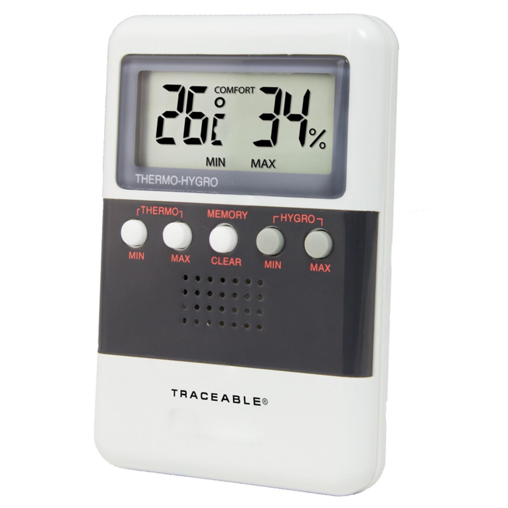 Medidor de humedad y temperatura digital certificado emyr for Medidor de temperatura y humedad digital